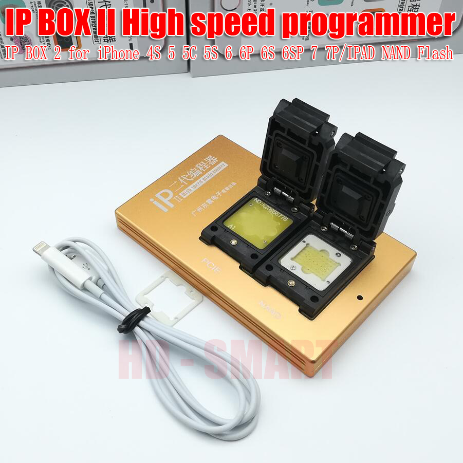 Date Boîte IP 2 Haute Vitesse Programmeur IPBOX2 NAND PCIE Programmeur pour iPhone 4S 5 5C 5S 6 6 p 6 s 6SP 7 7 p NAND Mise À Niveau