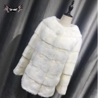 BFFUR 2018 New Winter Woman Fur Natural Mink Coats For Women Plus Size Sale Bohemian China Fashion Slim Fur Fashion O Neck Full