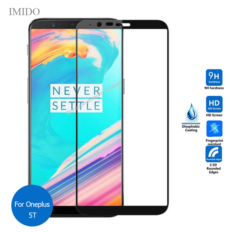 For Oneplus 5T Full Cover Tempered Glass Screen Protector 9h All Body Safety Protective Film on One Plus 5 T OP5T A5010 A 5010