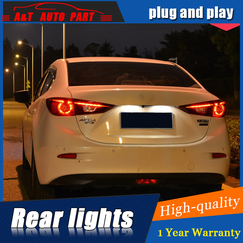Car Styling LED Tail Lamp for Mazda 3 AXELA Taillight assembly 2014-2017 for Mazda 3 Rear Light DRL+Turn Signal light with 4pcs.