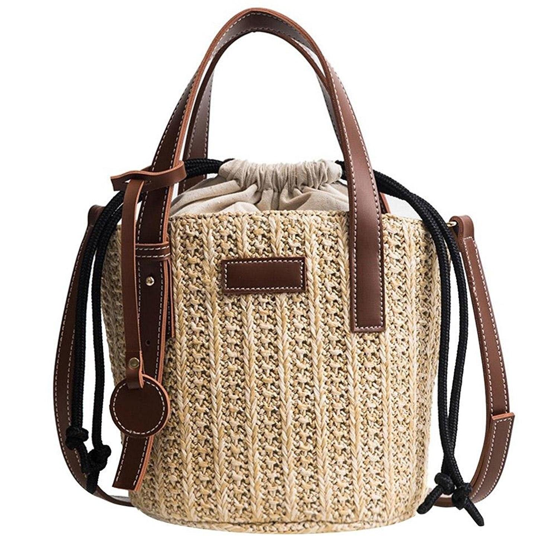 637ff7279677 ABDB-Для женщин соломенная сумка Винтаж соломенные сумки плечо Мини  посланник пляж Повседневное плетеная Сумка