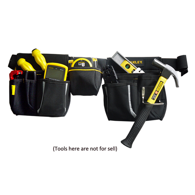 Stanley tool bag waist electrician hip storage carpenters belts and bags contractor construction tool belt pouch pocket combo 5