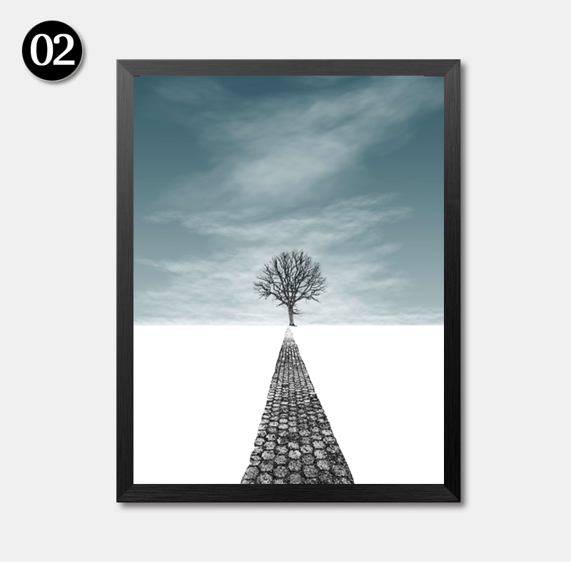 Landscape Tree Canvas Painting Modern Poster Print Nordic Wall Art Picture for Living Room in Painting Calligraphy from Home Garden