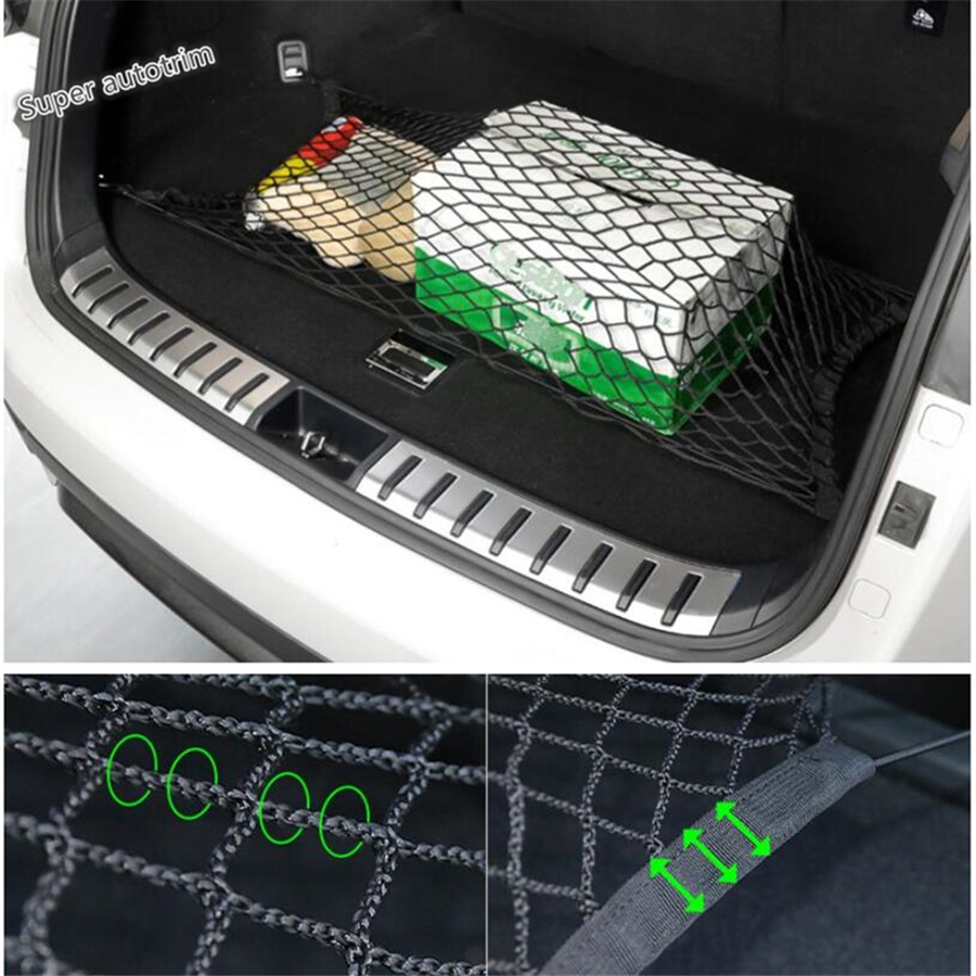 Lapetus <font><b>Accessories</b></font> For <font><b>LEXUS</b></font> NX 200T 300H <font><b>2015</b></font> - 2019 Elastic Rear Trunk Cargo Storage Organizer Luggage Net Holder Cover Kit image