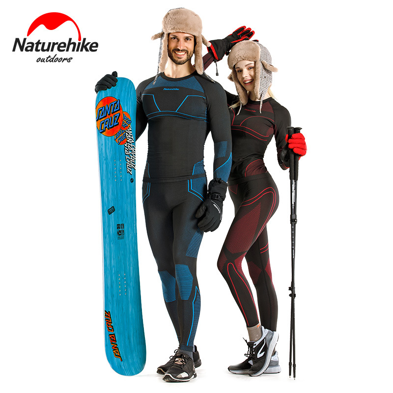Naturehike Men And Women Winter Long Sleeve Gear Ski Thermal Underwear Sets Top Sports Snowboarding Shirts And Pants Clothes