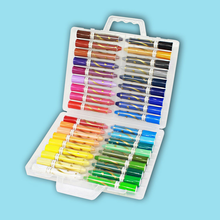 лучшая цена 12/24/36 color water-soluble silky oil painting stick children crayons rotation kindergarten educational drawing Supplies