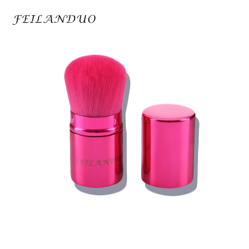 FEILANDUO Telescopic Super Soft Makeup Brush Pink Powder Brush Blush Brush Portable