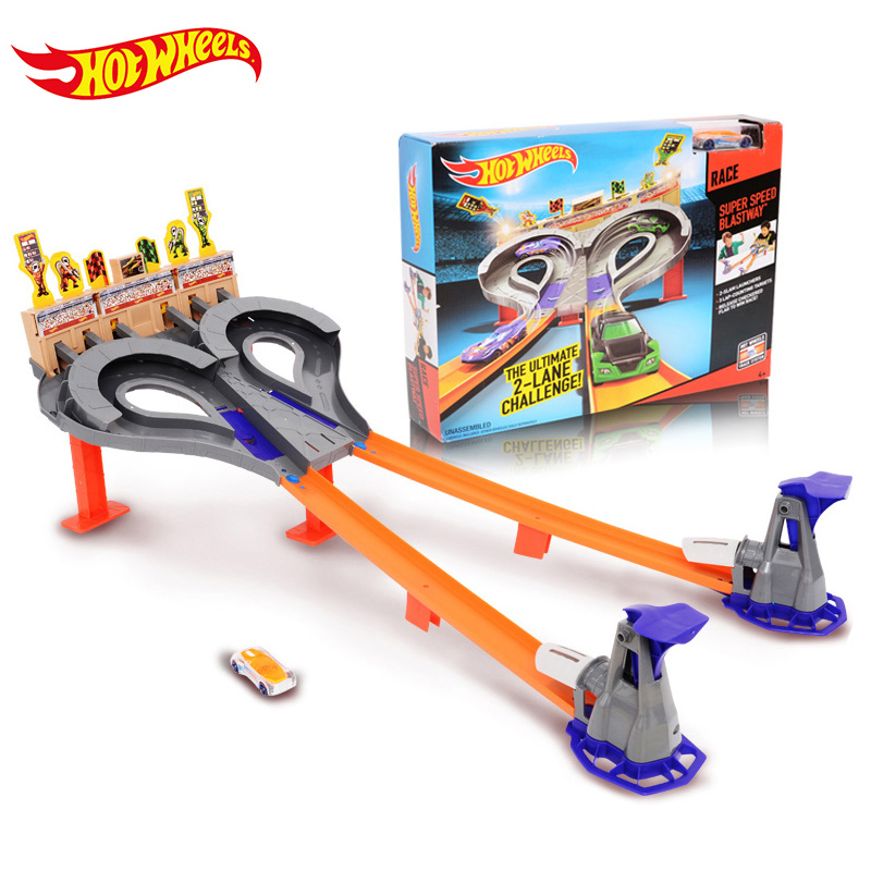 hotwheels track car race toy kids toys plastic metal