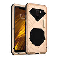 IMATCH Original For Xiaomi Mi Pocophone F1 Phone Case Hard Aluminum Metal Protector Cover Heavy Duty Protection Shockproof
