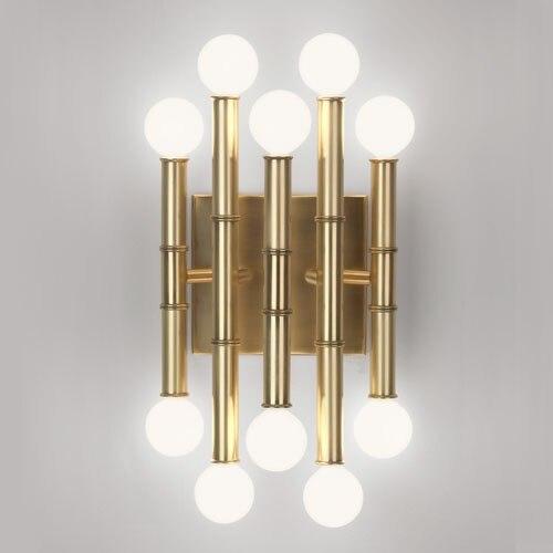 Lampe de mur LED ondulée d'acier inoxydable nordique a contracté le couloir d'intérieur de salon