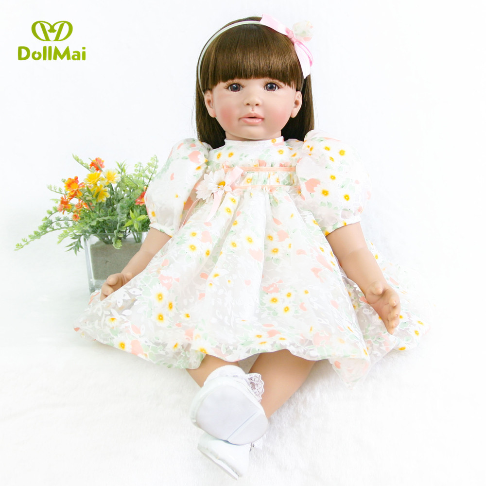 Fashion reborn baby girl dolls 2460cm silicone reborn baby doll vinyl princess toddler baby alive doll high quality child gift Fashion reborn baby girl dolls 2460cm silicone reborn baby doll vinyl princess toddler baby alive doll high quality child gift