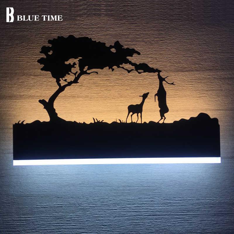 12 Вт акриловая креативная современная светодиодная настенная лампа для гостиной прикроватная спальня лампа настенная бра ванная настенная лампа черный блеск