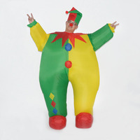 2017 Adult Man Women Inflatable Clown Costume Cosplay Funny Game Cosplay Dress Halloween Party Clothes