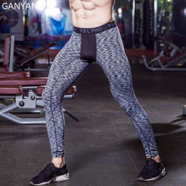 e267834112e6 GANYANR Marke Männer Laufhose Herren Compression Leggings Fitness Gym Yoga  Hosen Spandex Sport Atheletic Winter Schweiß
