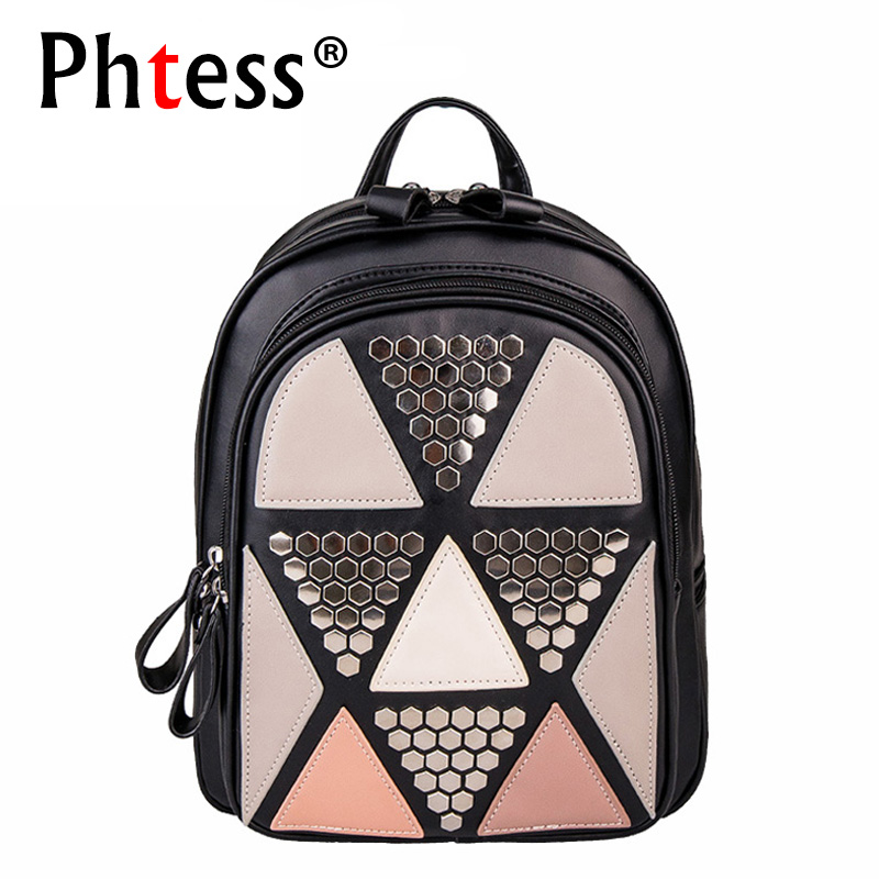 Girls Sequin Pu Leather Backpack Women Luxury Backpacks for Teenage Girls Patchwork School Bags for Teens Sac A Dos Bagpack cardamom fashion leather backpack women bags cowhide leather bagpack with colorful patchwork backpacks for women