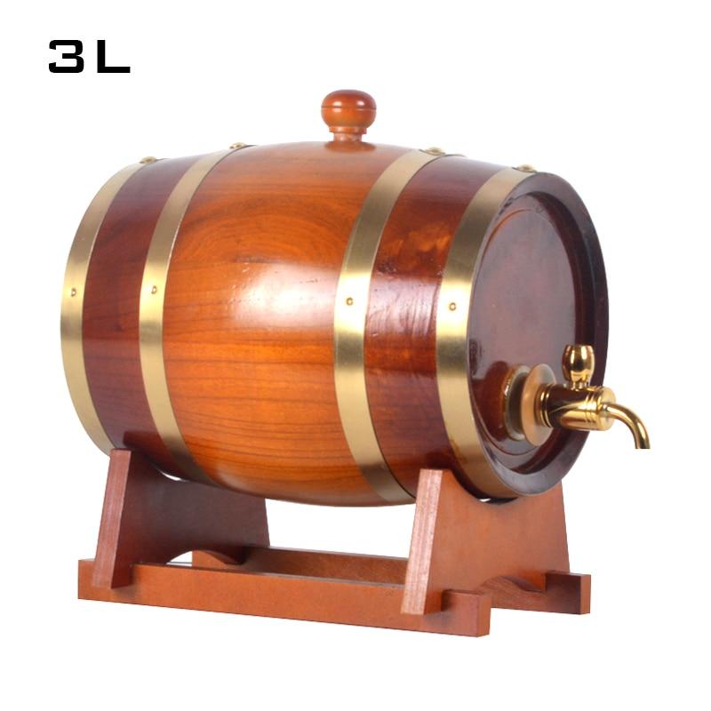 3l Oak Barrel Wooden Cask Wine Barrels Pine Wooden Barrel