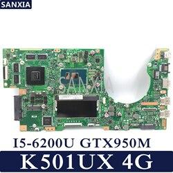 KEFU K501UX scheda madre Del Computer Portatile per ASUS K501UX K501UB mainboard originale DDR3 4G-RAM I5-6200U GTX950M EDP