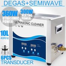 Ultrasonica Cleaner 10L Bath Degas Heater 360W/240W 40KHZ Ultrasonic Washer for Car Lab El
