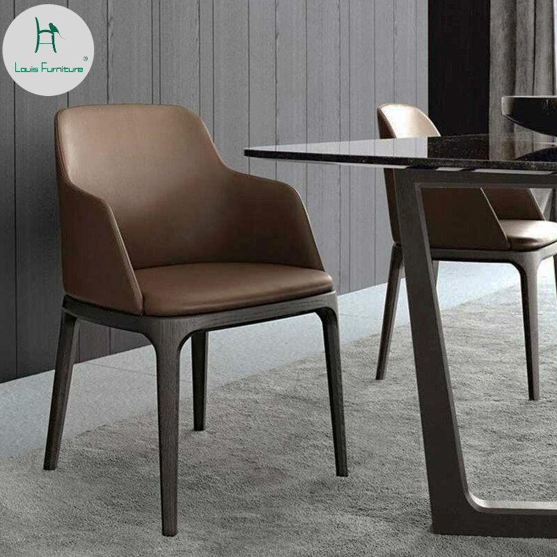 Louis Fashion Simple Dining Chair Modern Nordic Style Coffee Bar Dessert Tea Shop Table and Combination Hotel