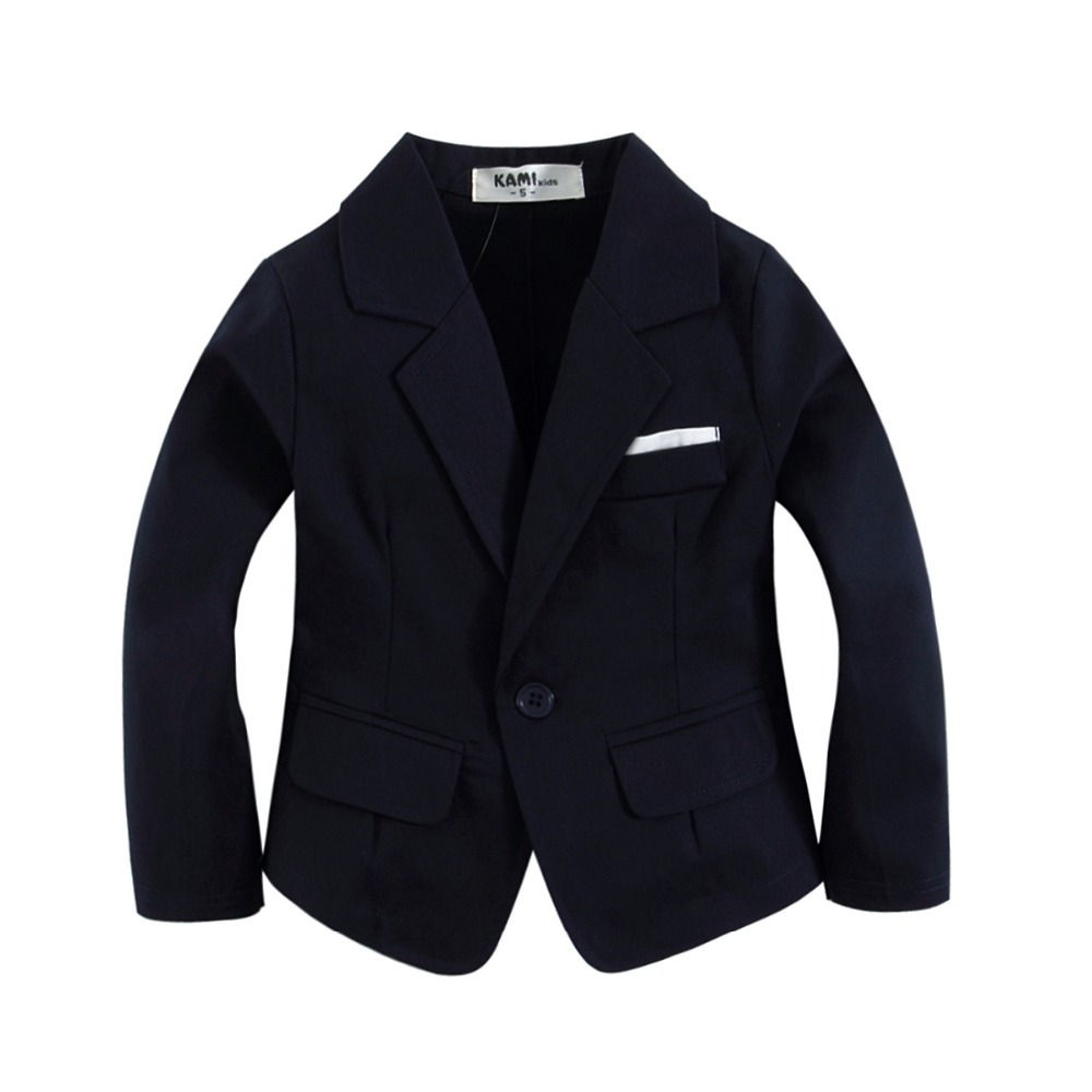 new arrival Dark Blue tkana bawełna 100% Toddler Boy Blazer