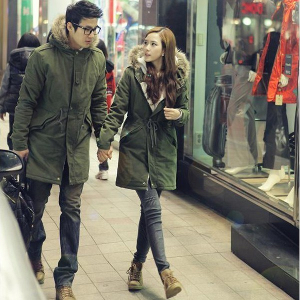 New 2013 Korean Winter Fashion Thick Warm Cotton Coat Fur Hooded ...