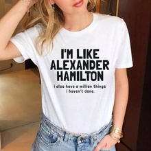 i'm like alexander hamilton Fashion Letter Print Music t-shirts Hipster grunge tumblr goth tee tops