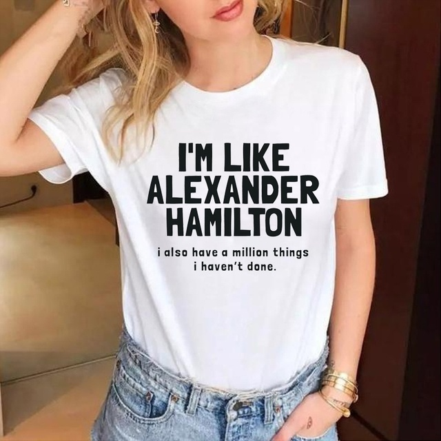 2efc06d412 i'm like alexander hamilton Fashion Letter Print Music t shirts Hipster  women fashion cotton causal grunge tumblr goth tee tops-in T-Shirts from  Women's ...
