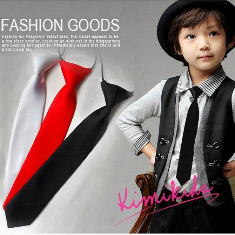 Solid Baby Neck Tie For Kids