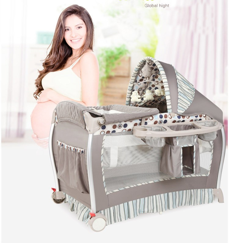 High quality free shipping Multifunctional folding portable game bed foldable baby bed newborn game guard bed free shipping 2016 hot sale baby crib portable detachable folding bed baby portable multifunctional folding baby bed