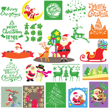 Merry Christmas Tree Santa Claus Sled Reindeer Metal Cutting Dies for Scrapbooking DIY Photo Album Card Making Decor New 2019