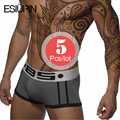 ESIUPIN Brand 5pcs/lot Boxers Shorts Men Sexy Cueca Boxer Men Cotton Mens Underwear Calzoncillos Hombre Boxer Marca underpants