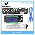 Nova Impressora 3D Reprap MELZI Motherboard MKS MELZI Controlador Board Para Printer Heatbed Prusa I3 MainBoard + 2004LCD 3D0338