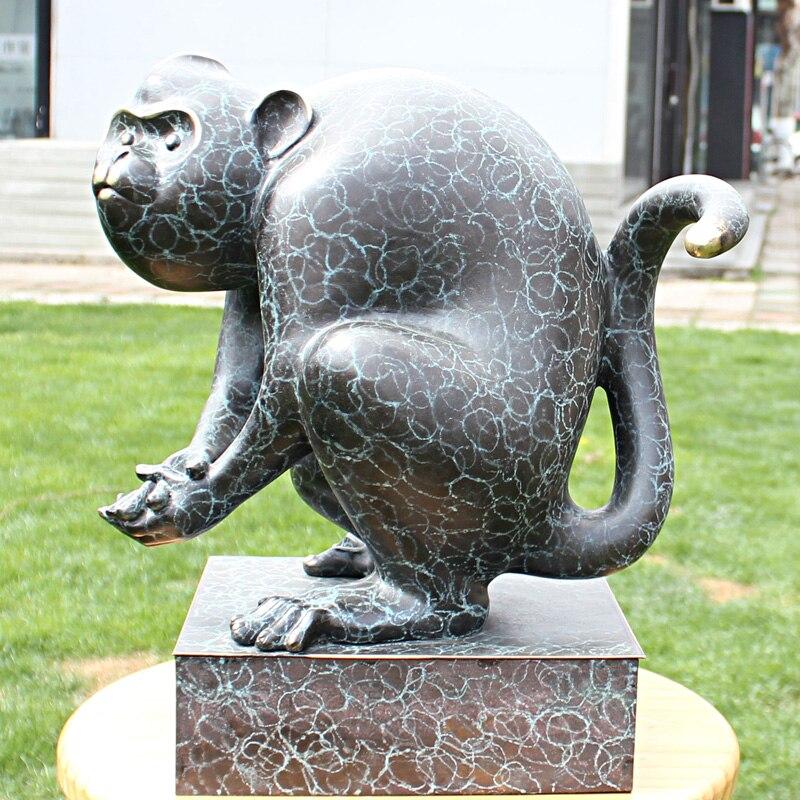 Douze zodiaque singe mascotte bronze statue anniversaire cuivre artisanat ornement ameublement ornementsDouze zodiaque singe mascotte bronze statue anniversaire cuivre artisanat ornement ameublement ornements