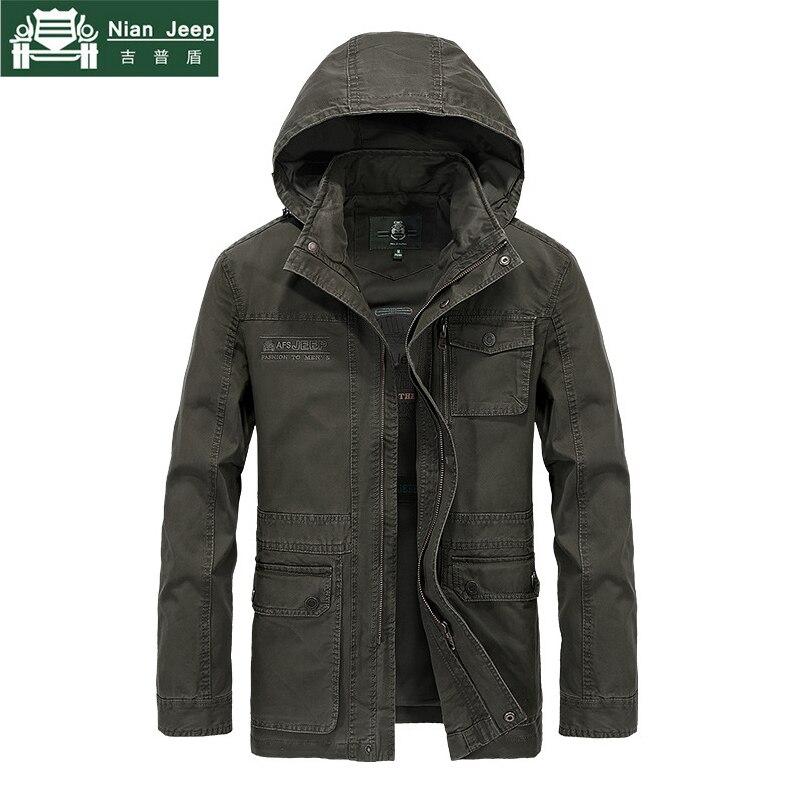 8187e79d49ea0 Chaqueta militar marca hombres de alta calidad más tamaño M-4XL hombres  otoño Casual algodón chaqueta y abrigo primavera hombres con capucha  chaquetas para ...