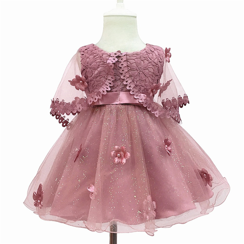 LILIGIRL Kids Lace Cloak Tutu Dresses for Girls Applique Clothes 2 years Baby Princess Elegant Party and Wedding Vestido Dress 2017 fashion summer hot sales kid girls princess dress toddler baby party tutu lace bow flower dresses fashion vestido
