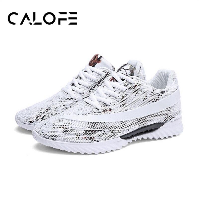 CALOFE бренд Для мужчин кроссовки сетки Прогулки кроссовки спортивные Для мужчин s Waiking обувь Открытый кроссовки дышащие кроссовки ...