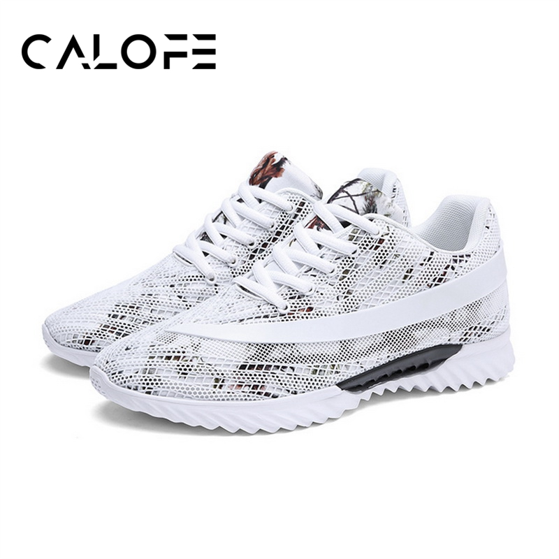 CALOFE Brand Mens Running Shoes Mesh Walking Jogging Shoes Sport Mens Waiking Shoes Outdoor Running Breathable Sneaker ...