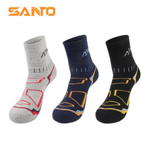 3 Pairs SANTO S016 Outdoor 78% Cotton Socks Mens Sports Quick Dry Warm Spring Winter Fit to Size 39-43
