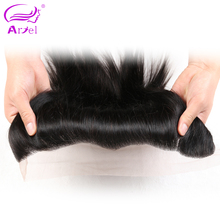 Ariel Remy Straight Human Hair Brazilian Lace Frontal Closure Ear To Ear Free Part Natural Color Free Shipping