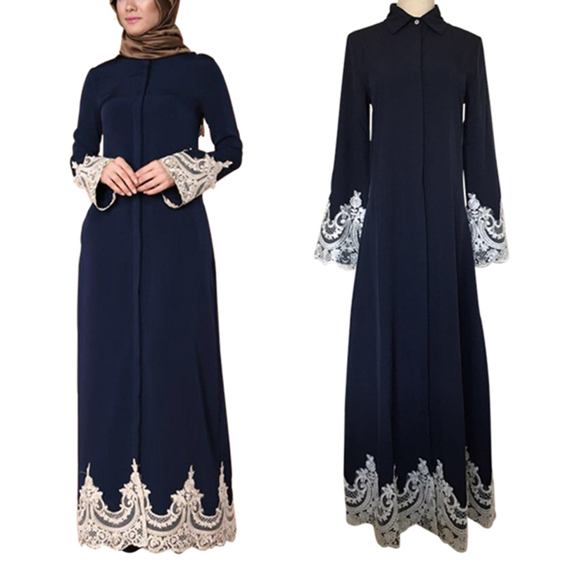 2019 Abaya Dubai Kaftan Arabic Lace Maxi Kimono Hijab Muslim Dress Caftan Abayas For Women Elbise