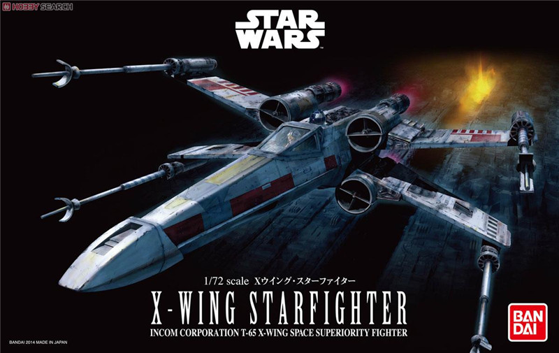 Free Shipping 2015 New Genuine Bandai 1:72 Scale Star Wars X-Wing starfighter Plastic Model Building Kits DIY Toys 2015 new genuine bandai 1 48 scale star wars snow speeder modified incom t 47 airspeeder plastic model building kits diy toys