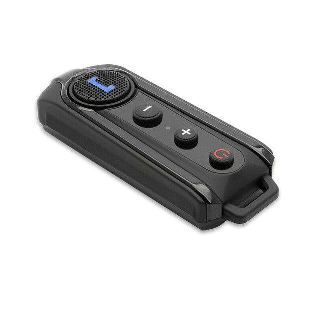 Casco de la motocicleta 1000 m Interphone Bluetooth moto de la motocicleta intercomunicador del casco de auriculares Radio FM