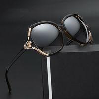 Luff marke die new frauen sonnenbrille anti-uv große gläser rahmen pc objektiv sonnenbrillen sonnenschutz shopping sn9022w