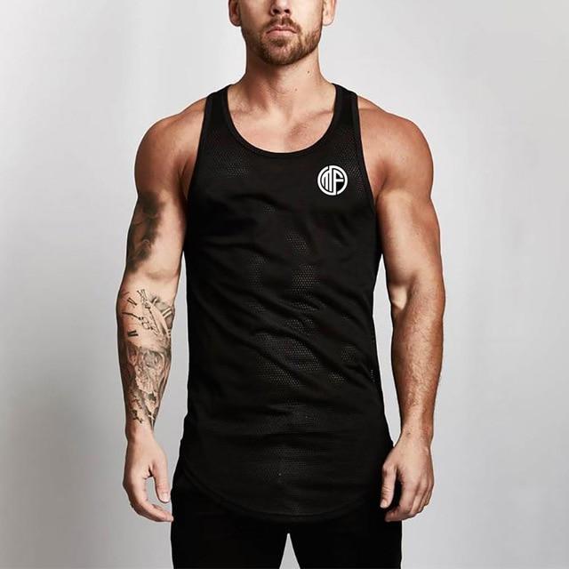 Ademend Mesh Vest Mannen Bodybuilding Fitness Training Mesh Sexy Slanke Mouwloze Vest Betrouwbare Prestaties