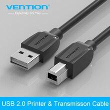 Vention-Cable USB 2,0 de alta velocidad para impresora, Cable de sincronización para cargar datos de 1m, 1,5 m, 2m, 3m y 5m, macho A B