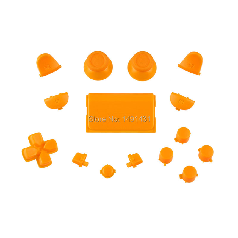 wholesale price solid orange full set buttons for PS4 games for Playstation 4 controller