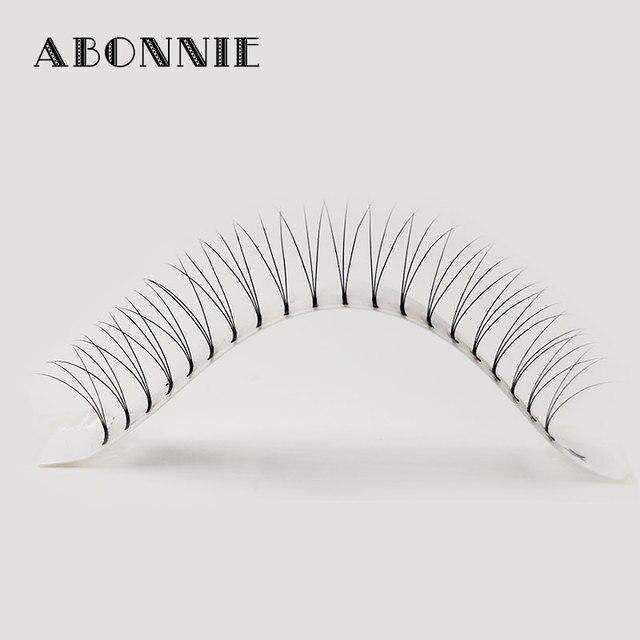 Abonnie 3d/4d/5d/6d Heat Bonded Pre Made Volume fans Faux Mink Premade Russian Volume Eyelash Extension Supplies 5