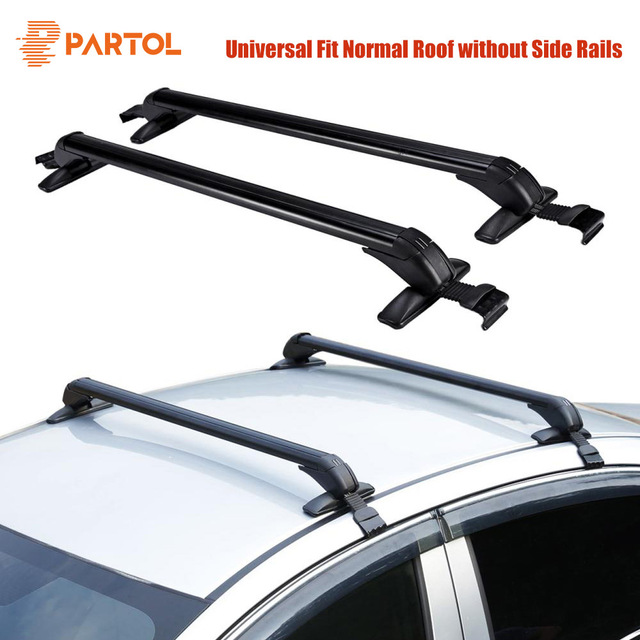 Partol Universal 100cm Car Roof Racks Cross Bars Crossbars With Anti Theft Lock 60kg
