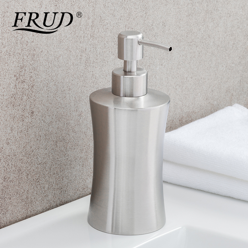 Frud Stainless Steel 400ml Liquid Soap Dispenser Kitchen Bathroom And Lotion Bathroom Soap Dispenser Hardware Accessories Y35003