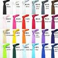 1 peça pcs Lazer Moda Magro Narrow Seta Gravata Skinny cor sólida Cetim 5 cm Marca Corbatas Gravata para homens Livres grátis